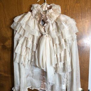 Tops - Sheer powdery blouse. Vintage design.